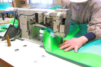 縫製加工、熱風溶着、カバー